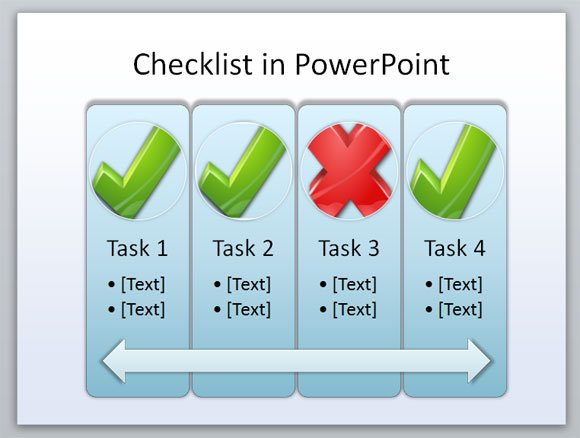 ... checklist PPT shapes in your PowerPoint presentations but also in your
