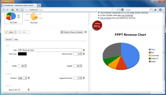 add a pie chart office support