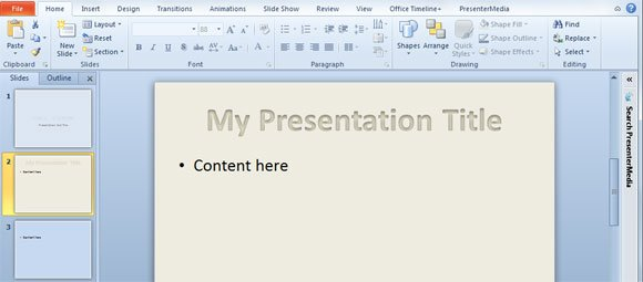 ... Media Template for PowerPoint Presentations | PowerPoint Presentation