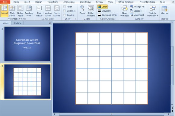 create a 2d coordinate system in powerpoint using shapes powerpoint presentation. Black Bedroom Furniture Sets. Home Design Ideas
