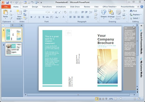 make brochure online free printable
