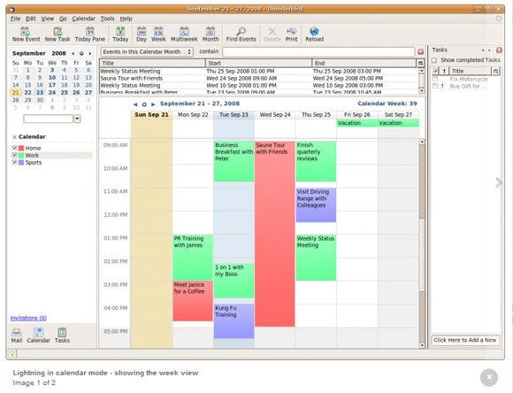 Viewing Outlook Calendar Events In Thunderbird