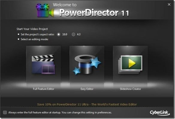 Cyberlink power director video editing tool with for Cyberlink powerdirector slideshow templates