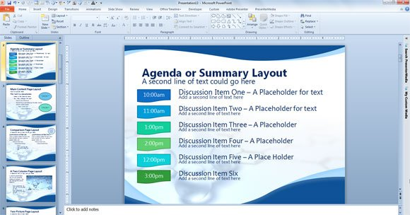 agenda or summary layout in powerpoint presentation powerpoint presentation. Black Bedroom Furniture Sets. Home Design Ideas