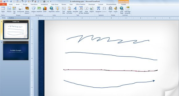 Drawing Lines With Powerpoint : Drawing scribble lines in powerpoint