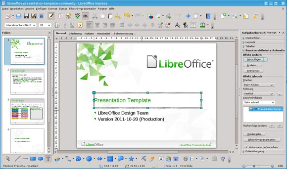 Open powerpoint on linux powerpoint presentation for Openoffice impress templates free download
