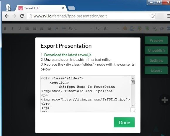 Share Presentations Online And Export Them Offline