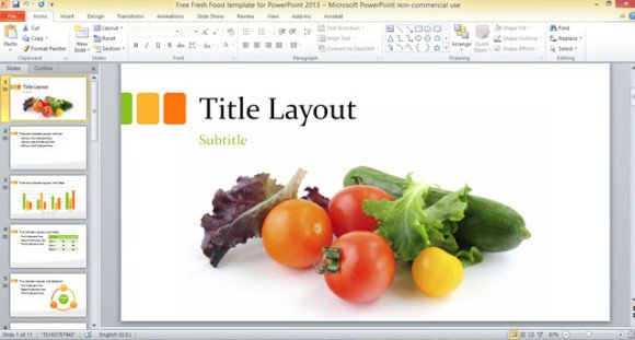 Free food powerpoint templates fieldstation free food powerpoint templates toneelgroepblik Images