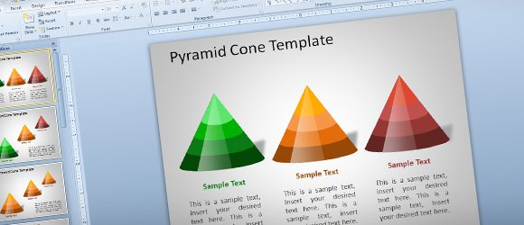 3d pyramid cone template for powerpoint using shapes Make your own 3d shapes online