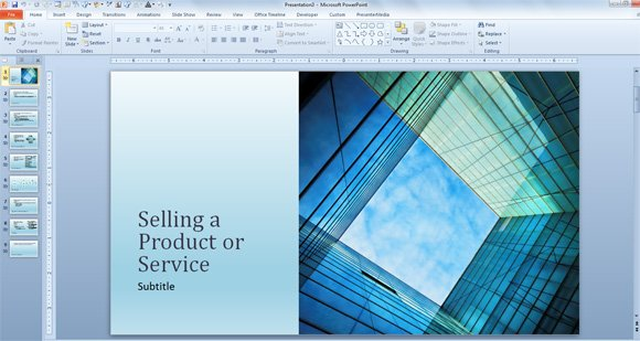 Prepare a powerpoint presentation about your sales performance