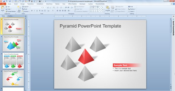 Free 3d pyramid template for powerpoint presentations for Video background powerpoint templates free download
