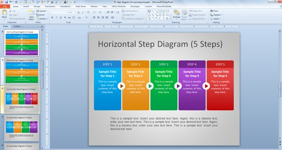 how to create power point template - free steps diagram for powerpoint powerpoint presentation