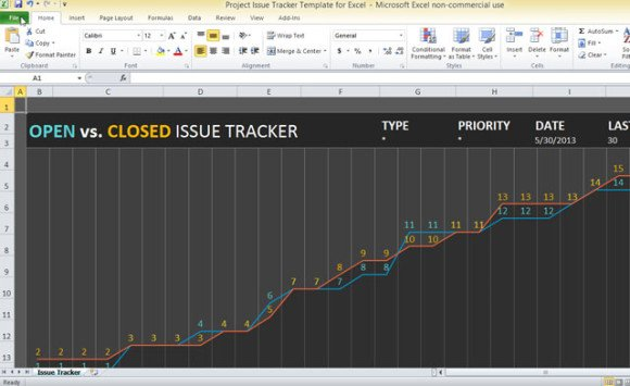 issue tracking excel template