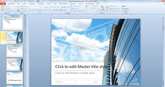 How to create a powerpoint template using a jpg image for How to make my own powerpoint template