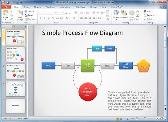 Free process flow diagram template free process flow diagram template for powerpoint ccuart Images