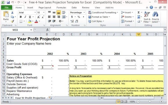 Project Costing Excel Template