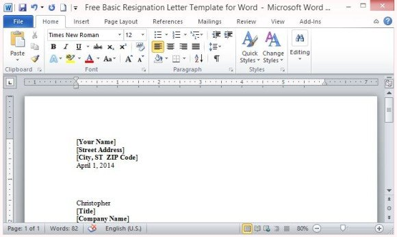 why is the microsoft word application zoomed in