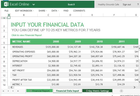 ... Financial Report Template For Excel Online | PowerPoint Presentation