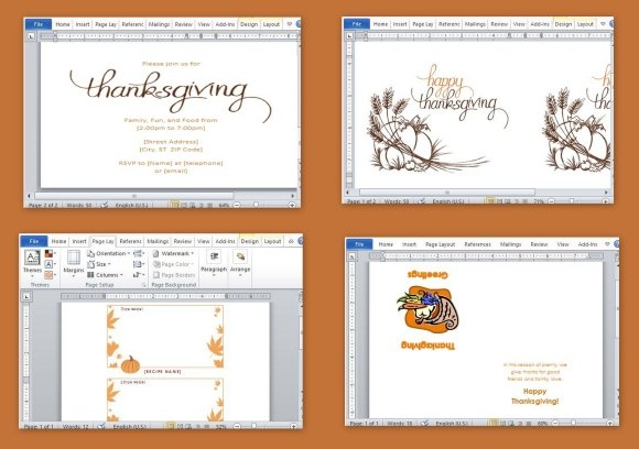 best thanksgiving templates for microsoft word powerpoint presentation. Black Bedroom Furniture Sets. Home Design Ideas