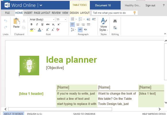 Brainstorming Template...