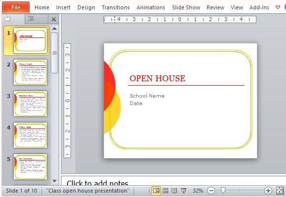 classroom open house powerpoint template powerpoint presentation