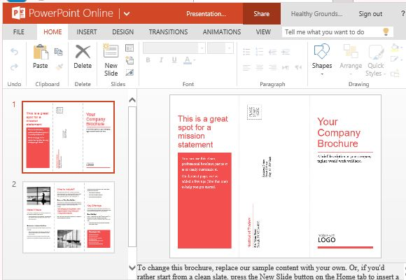 Medical brochure template for powerpoint online for Brochure templates for powerpoint