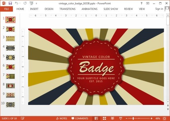 Animated Badge And Logo Maker Powerpoint Templates