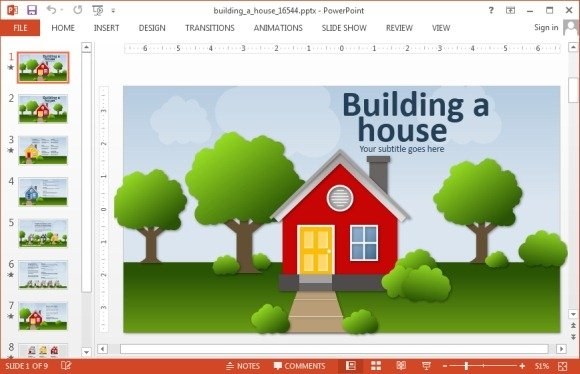 Animated real estate powerpoint templates powerpoint House building software free download