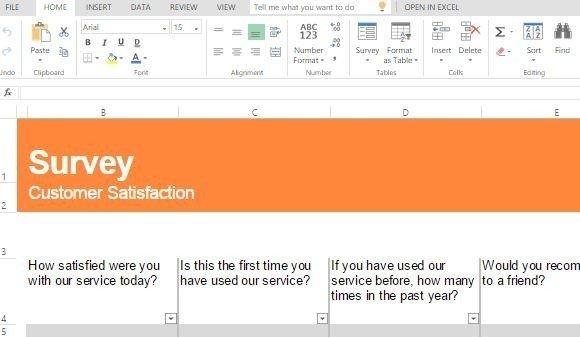 customer satisfaction survey template for excel powerpoint presentation. Black Bedroom Furniture Sets. Home Design Ideas