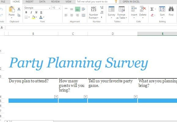 Party planning survey form template for excel powerpoint for Rsvp template for event