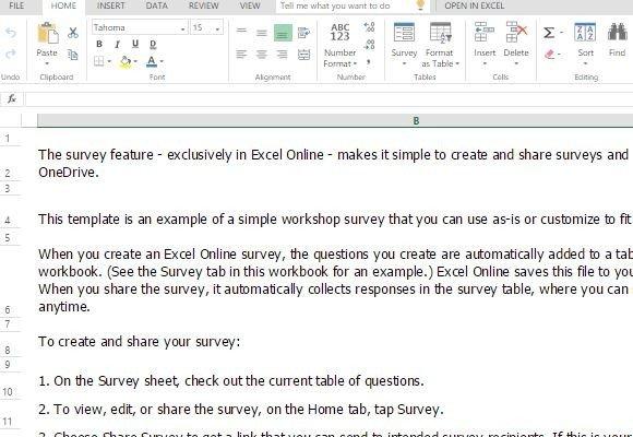 excel survey template