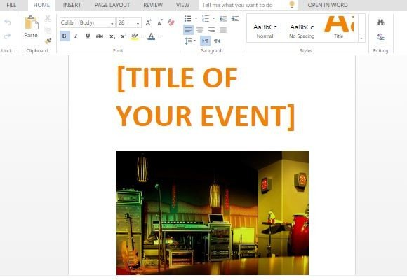Powerpoint Flyer Template blueplaidnet – Powerpoint Flyer Template