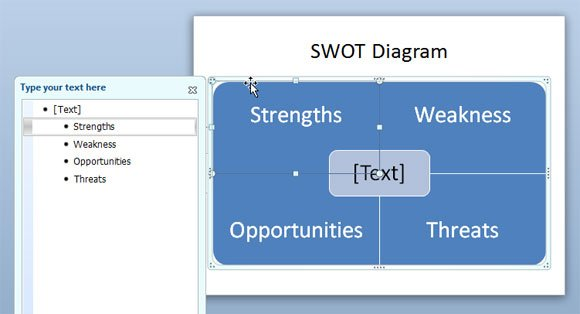 How to create a swot analysis swot powerpoint maxwellsz