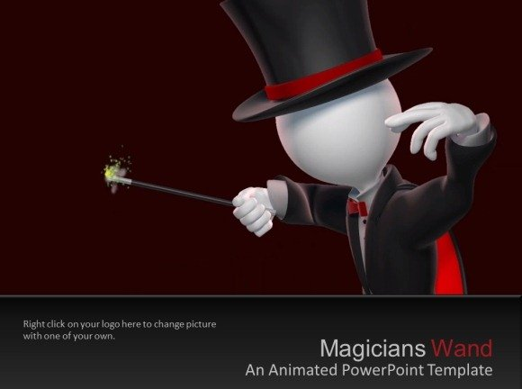 Magicians Magic Wand PowerPoint Template